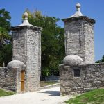 the old city gates in st. augustine