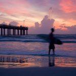 Surfer at St. Augustine Beach.Getty