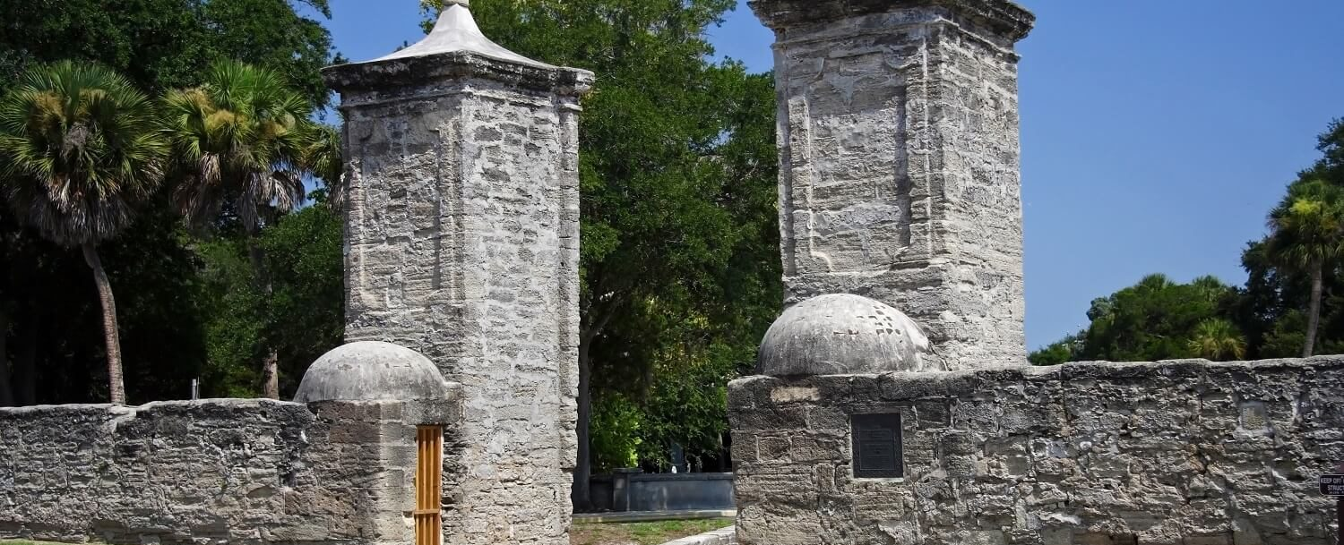 The Old City Gates are one of the most Haunted Places in St. Augustine