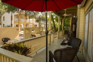 porch of agustin inn, book your stay today!