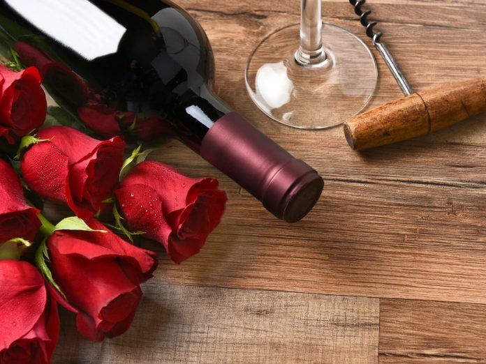 wine and roses are the perfect start to a Romantic Getaway to St. Augustine