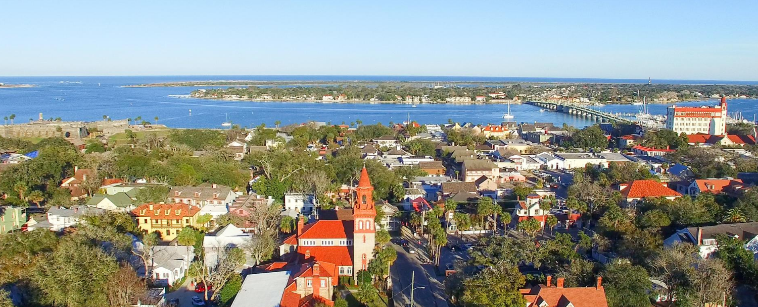 ariel view of st. augustine